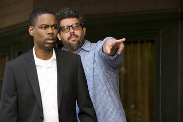 Chris Rock and director Neil LaBute on the set of &quot;Death at a Funeral.&quot;